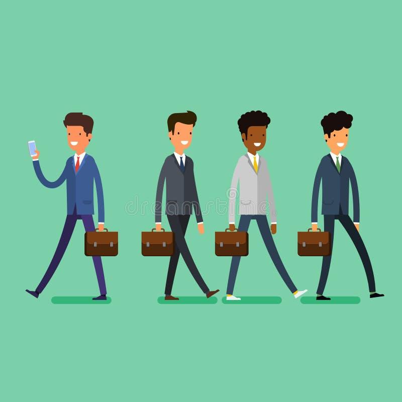 Bedrijfs concept Mensen unfollow de leider stock illustratie