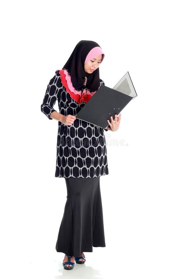 Van Bedrijfs muslimah Concept stock afbeelding