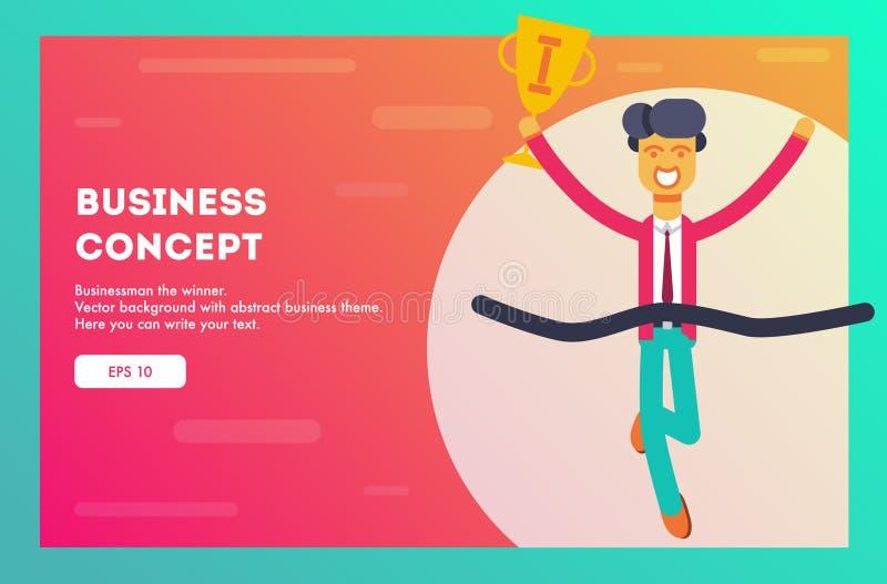 Bedrijfs concept Vector illustratie royalty-vrije illustratie