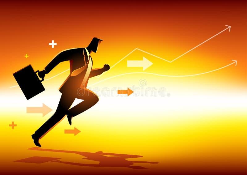 Bedrijfs conceptenillustratie stock illustratie