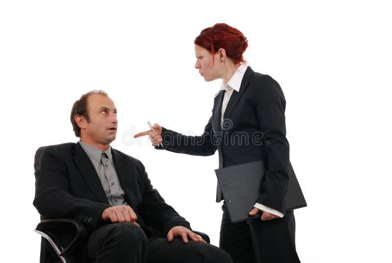 Bedrijfs conflict stock fotografie