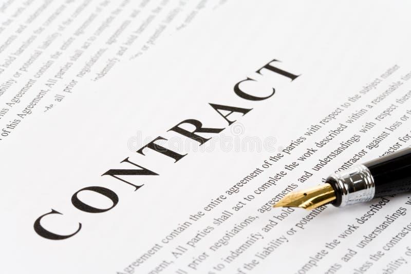Bedrijfs Contract stock fotografie