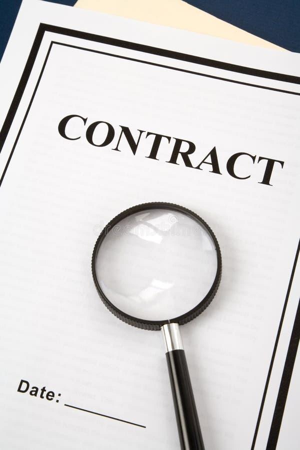 Bedrijfs Contract stock afbeelding
