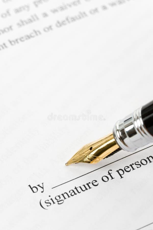 Bedrijfs Contract royalty-vrije stock afbeeldingen