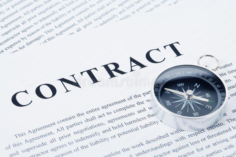 Bedrijfs Contract stock afbeeldingen