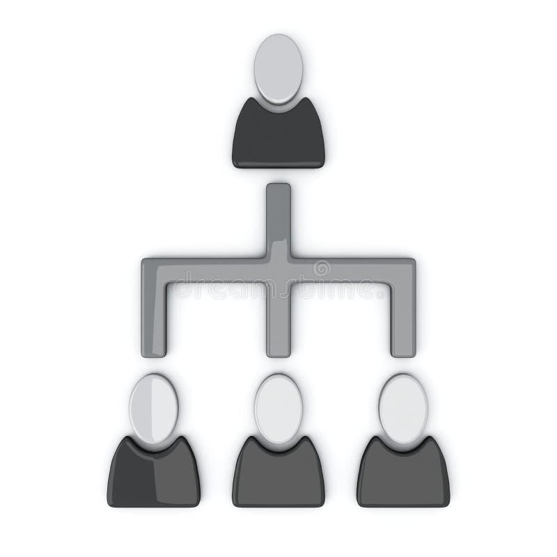 Bedrijfs 3d hiërarchie, vector illustratie