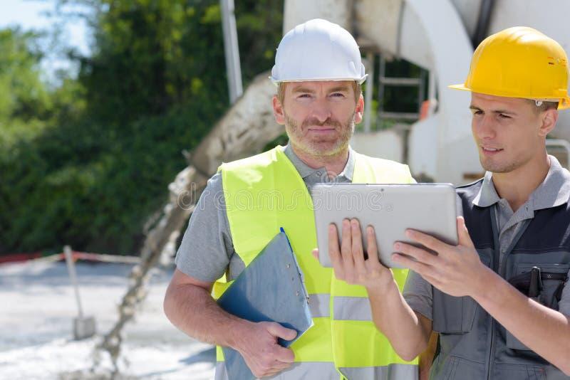 Bedrijfs de bouwadministratie en mensenconcept stock foto's