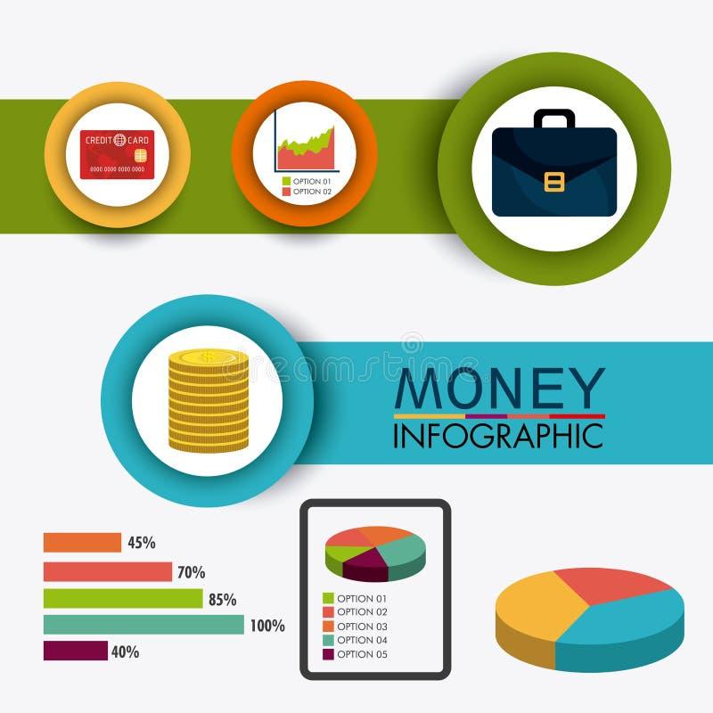 Bedrijfs de groei en geldbesparingen vector illustratie