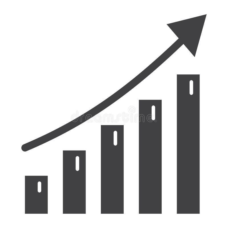 Bedrijfs de groei stevig pictogram, zaken en financieel stock illustratie