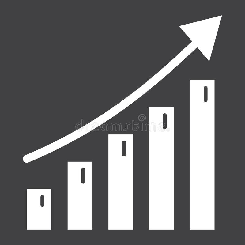 Bedrijfs de groei stevig pictogram, zaken en financieel vector illustratie
