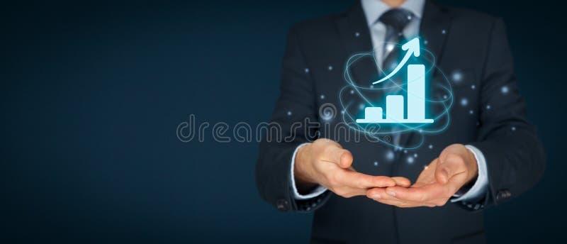 Bedrijfs de groeianalyse royalty-vrije stock afbeeldingen