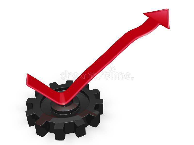 Bedrijfs de Groeipijl die van een Toestel toenemen vector illustratie
