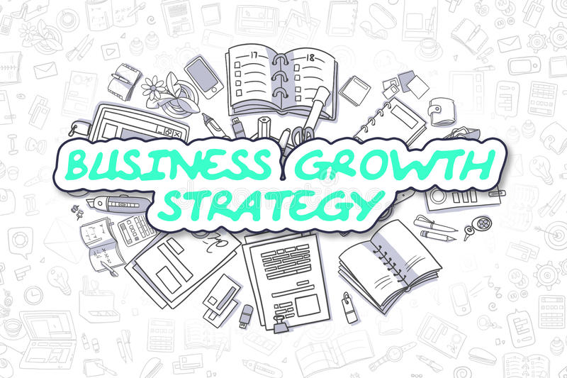 Bedrijfs de Groeistrategie - Bedrijfsconcept stock illustratie