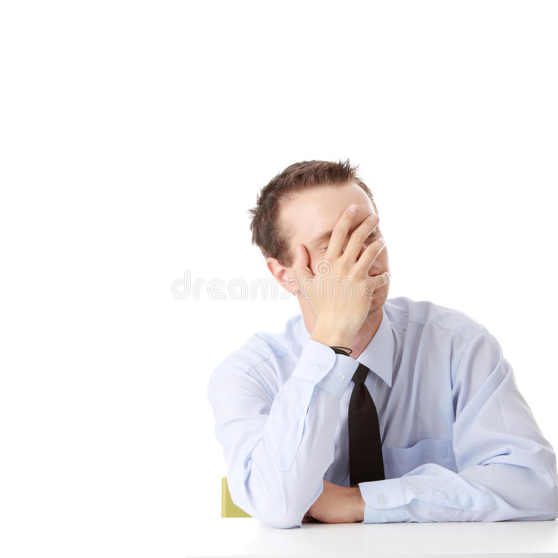 Bedrijfs depressie stock afbeelding