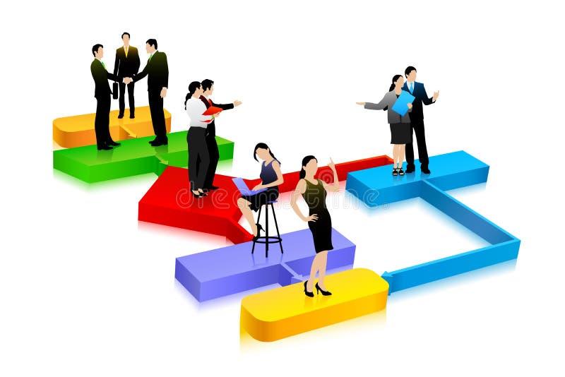 Bedrijfs Diagram vector illustratie