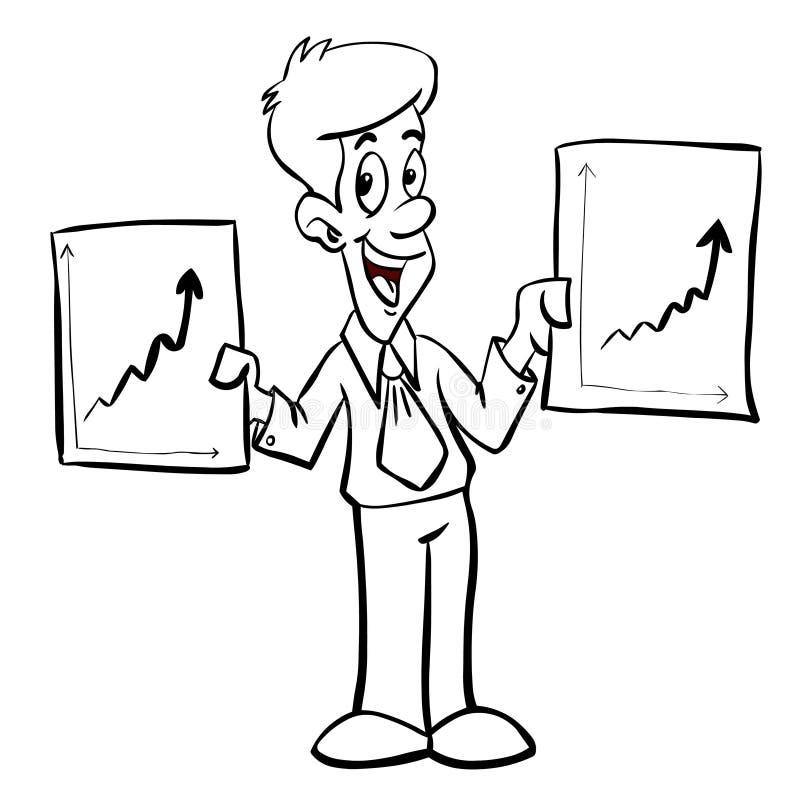 Bedrijfs diagrammen royalty-vrije illustratie