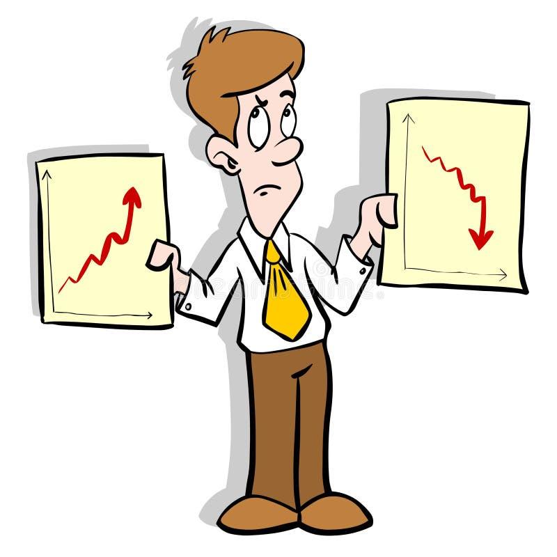 Bedrijfs diagrammen stock illustratie
