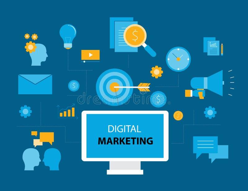 Bedrijfs Digitaal marketing concept vector illustratie