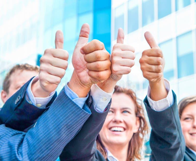 Bedrijfs duim omhoog royalty-vrije stock afbeelding