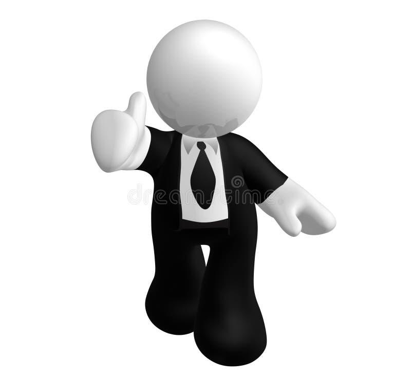 Bedrijfs duim op pictogram stock illustratie