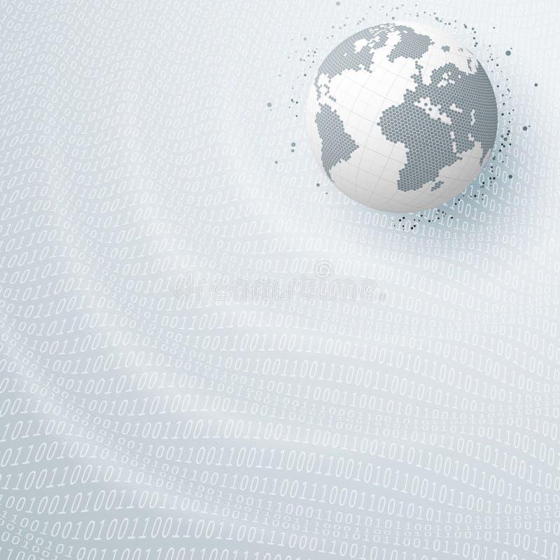 Bedrijfs elegante abstracte achtergrond met bol Vectorillustratie voor brochure, vlieger of websiteontwerp royalty-vrije illustratie