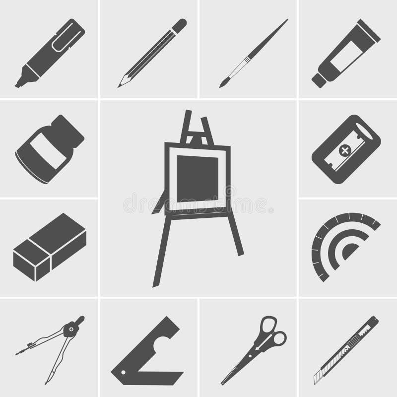 Bedrijfs en bureaupictogrammen stock illustratie