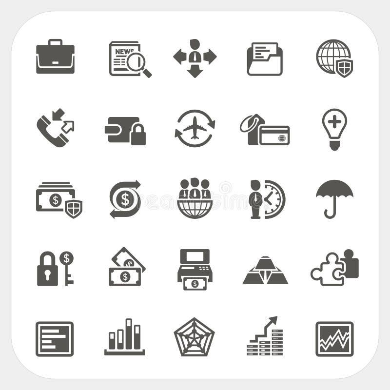 Bedrijfs en financiën geplaatste pictogrammen royalty-vrije illustratie