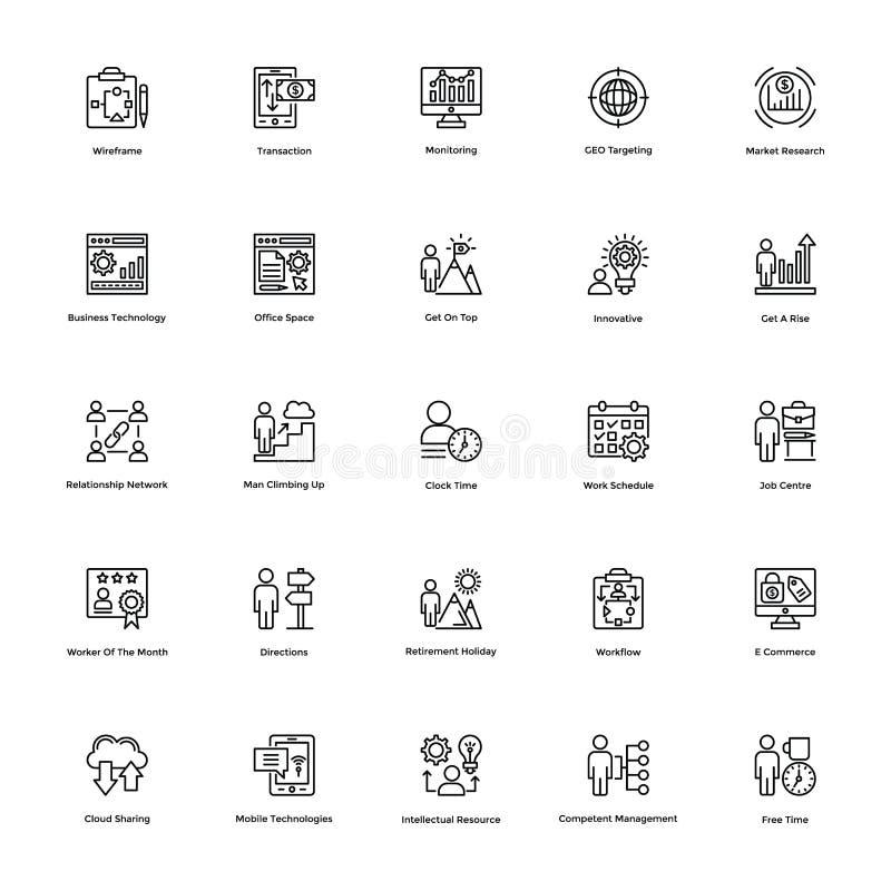 Bedrijfs en Financiënlijn Vectorpictogrammen 22 vector illustratie