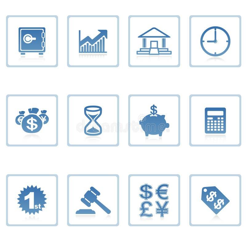 Bedrijfs en financiënpictogram stock illustratie