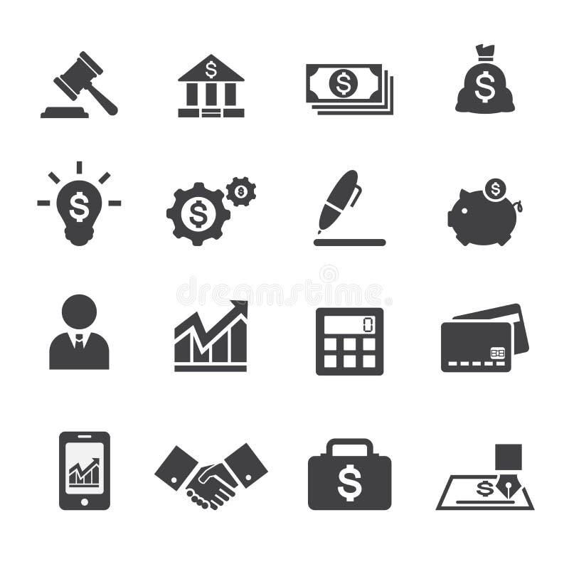 Bedrijfs en financiënpictogram vector illustratie
