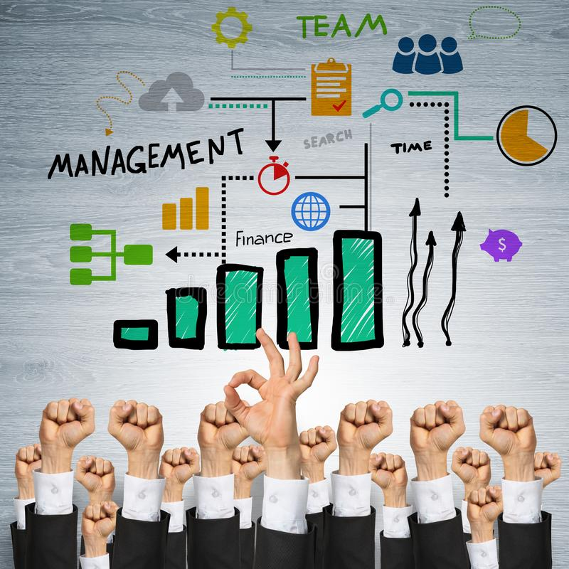 Bedrijfs en groepswerkconcept stock foto