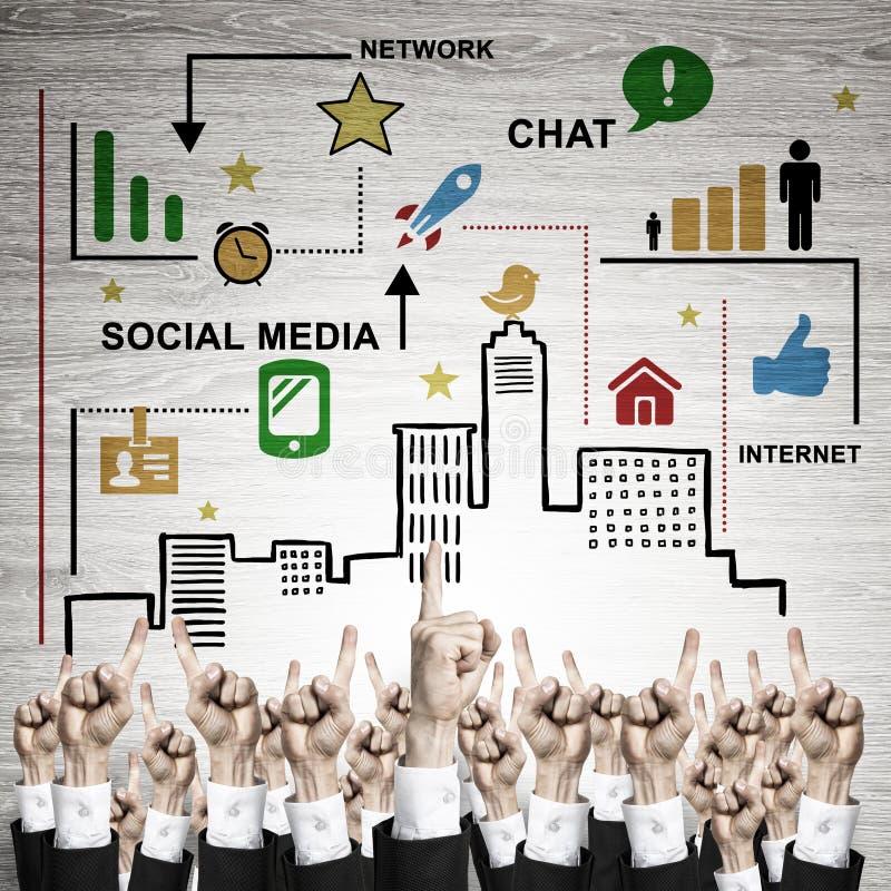 Bedrijfs en groepswerkconcept stock afbeelding