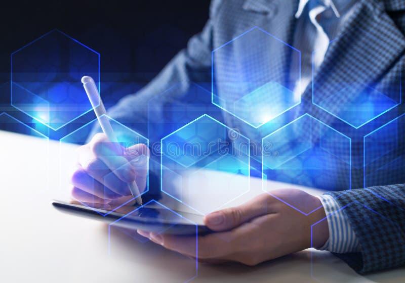 Bedrijfs en innovatietechnologieconcept royalty-vrije stock afbeelding