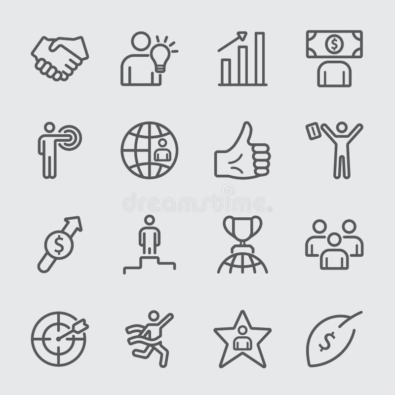 Bedrijfs en succeslijnpictogram royalty-vrije stock foto
