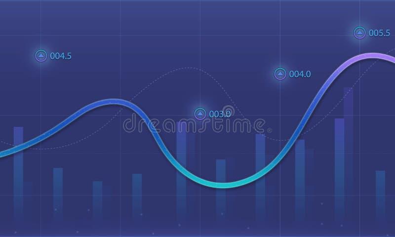 Bedrijfs financiële grafiekachtergrond royalty-vrije illustratie