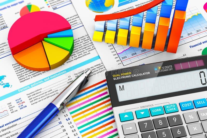 Bedrijfs, financiën en boekhoudingsconcept royalty-vrije illustratie