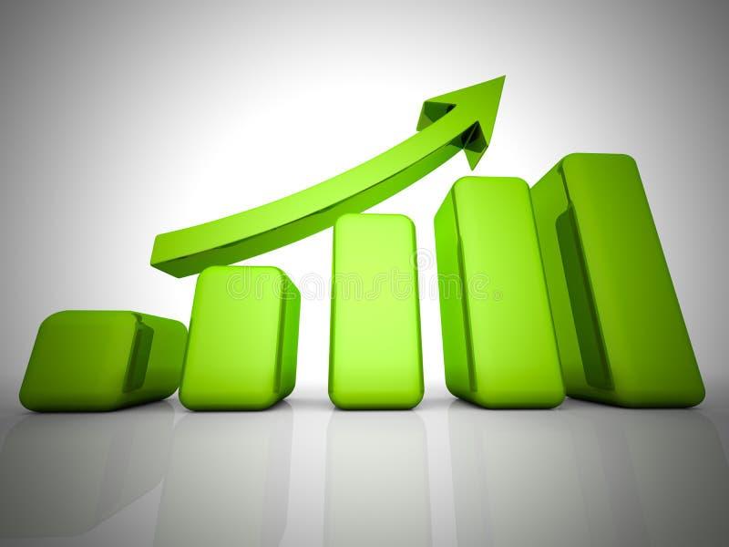 Bedrijfs financiëngrafiek, diagram, grafische staaf, vector illustratie