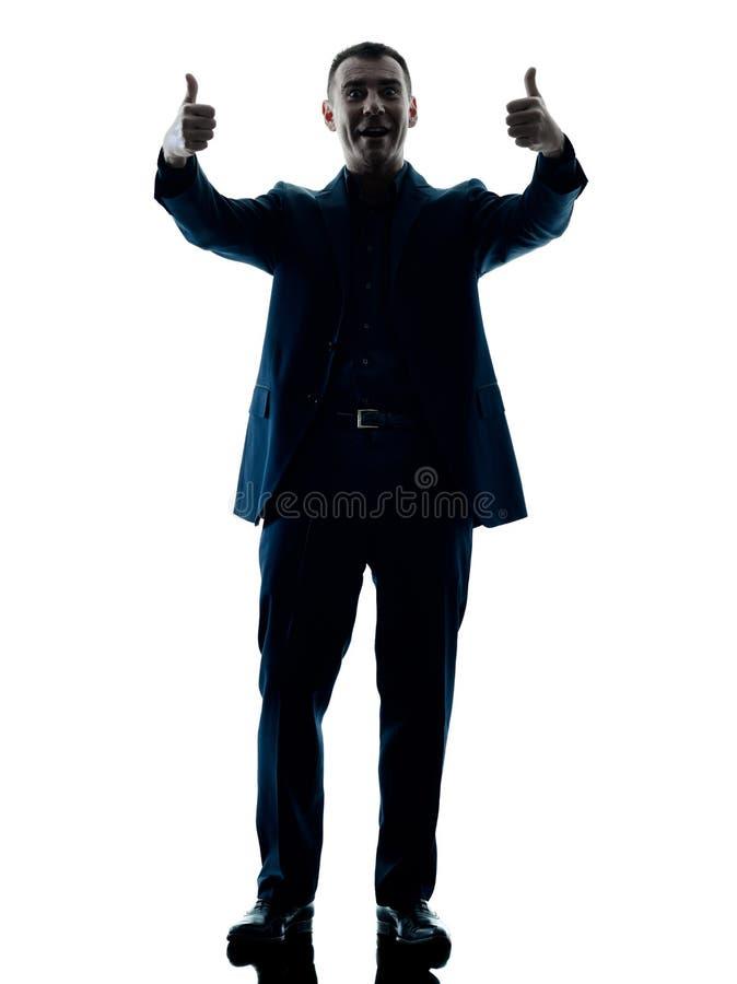 Bedrijfs geïsoleerd mensen bevindend silhouet royalty-vrije stock fotografie