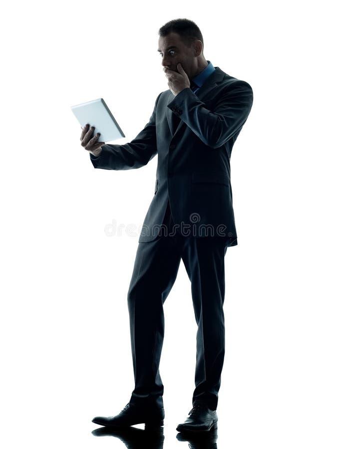 Bedrijfs geïsoleerde mensen digitale tablet royalty-vrije stock afbeeldingen