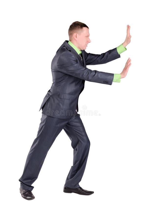 Bedrijfs geïsoleerdee mens stock foto