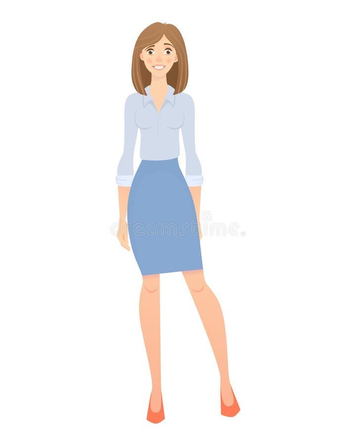 Bedrijfs GeïsoleerdeG Vrouw vector illustratie