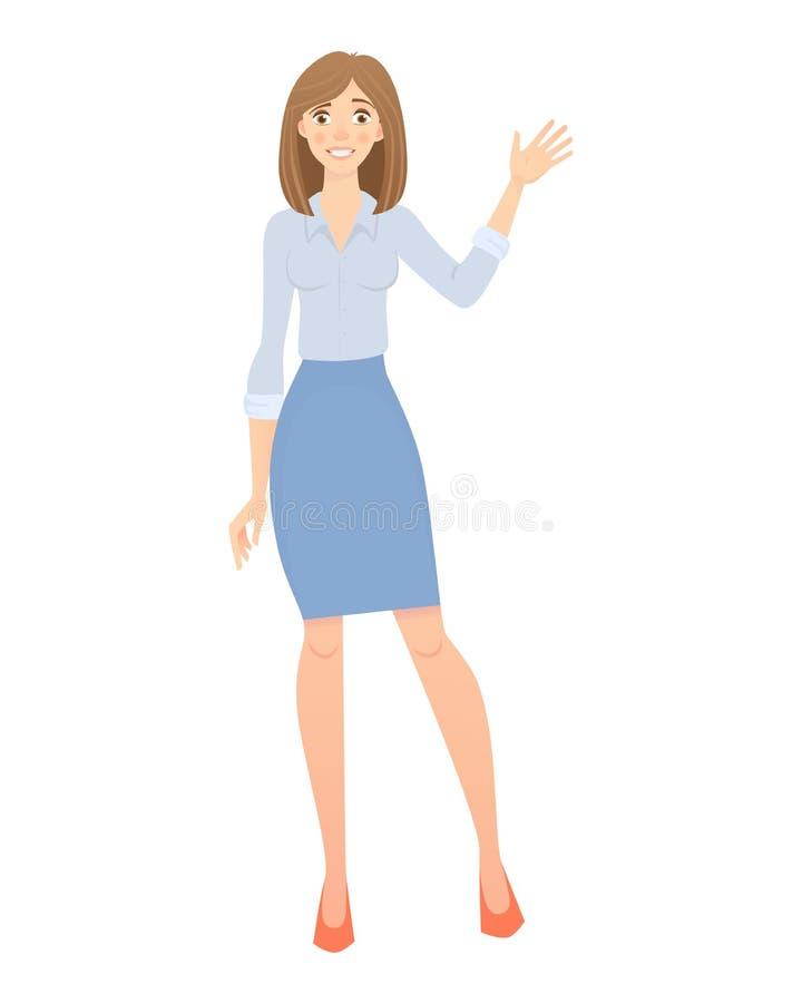 Bedrijfs GeïsoleerdeG Vrouw royalty-vrije illustratie