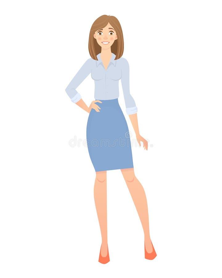 Bedrijfs GeïsoleerdeG Vrouw stock illustratie