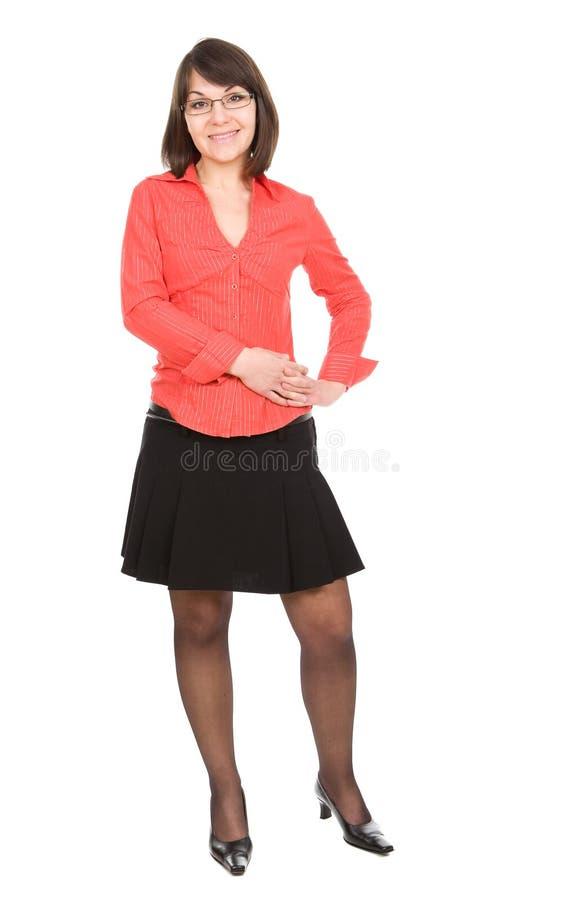 Bedrijfs geïsoleerdew vrouw stock foto's