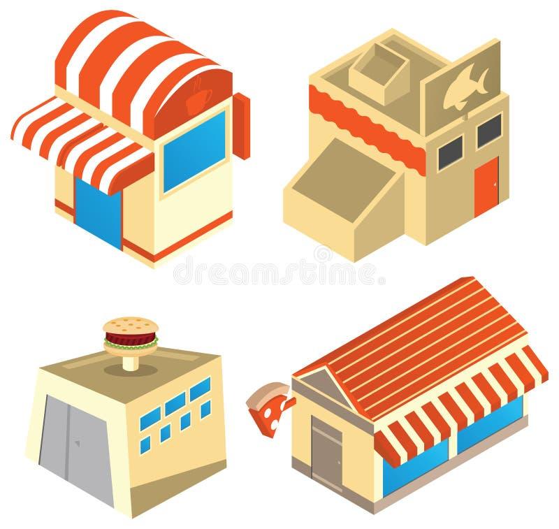 Bedrijfs gebouwen vector illustratie