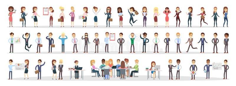 Bedrijfs geplaatste mensen royalty-vrije illustratie