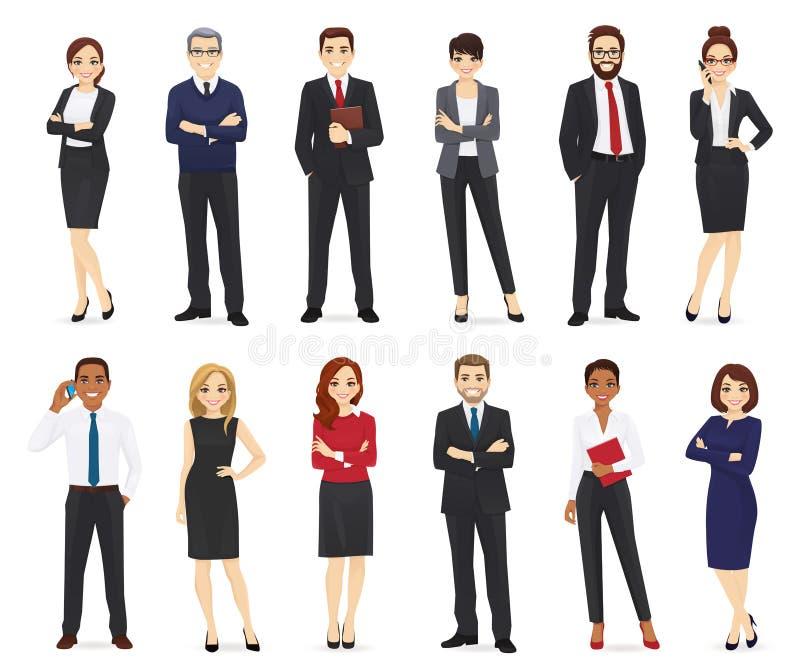 Bedrijfs geplaatste mensen stock illustratie