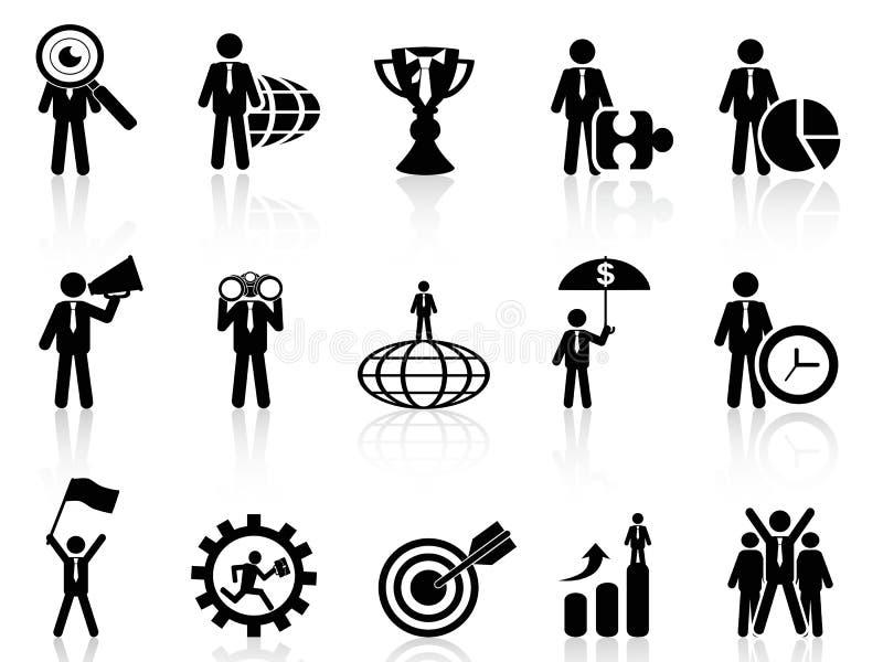Bedrijfs geplaatste metafoorpictogrammen stock illustratie