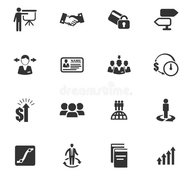 Bedrijfs geplaatste pictogrammen royalty-vrije illustratie