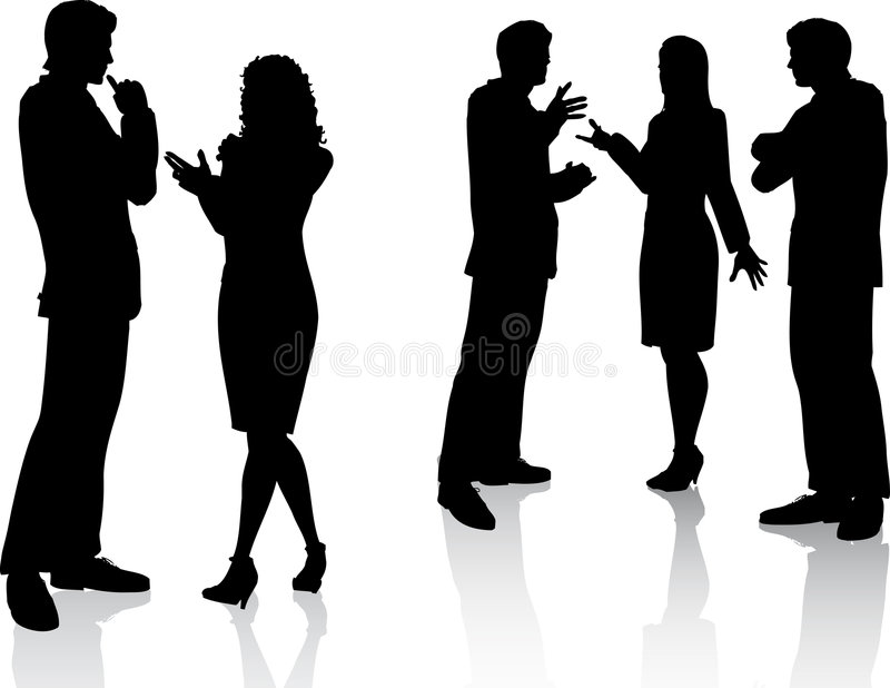 Bedrijfs gesprekken stock illustratie